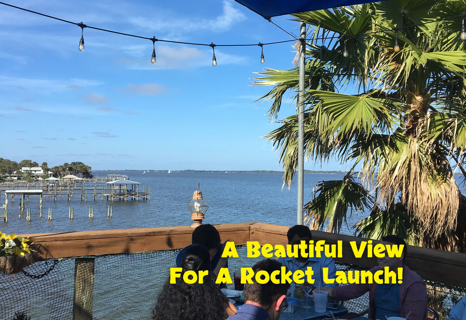 A beautiful Florida view for a rocket launch